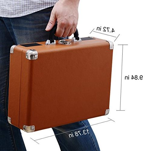 Musitrend Bluetooth Portable Suitcase Rechargable Battery, Headphone RCA line