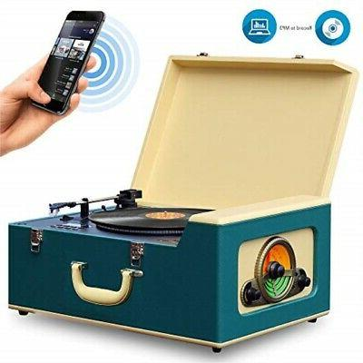 bluetooth record player turntable