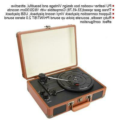 Bluetooth Player Turntable Player Built-in