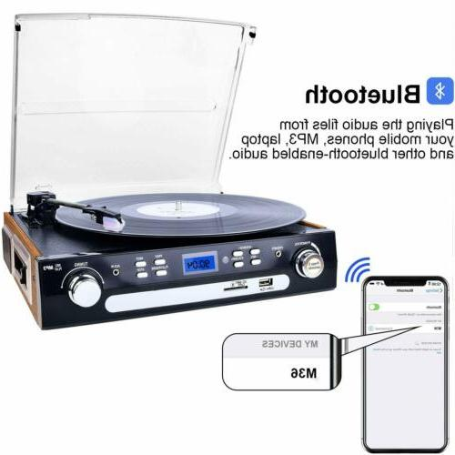 Bluetooth Player with Stereo for Vinyl to