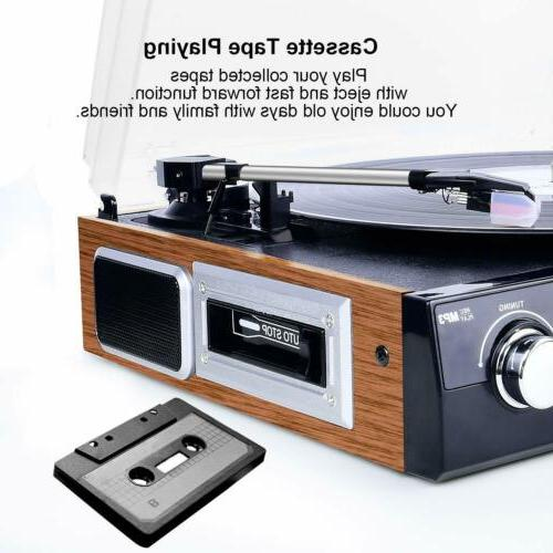 Bluetooth Record Player with Stereo Speakers Vinyl