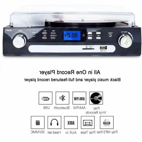 Bluetooth Player with Stereo Vinyl MP3