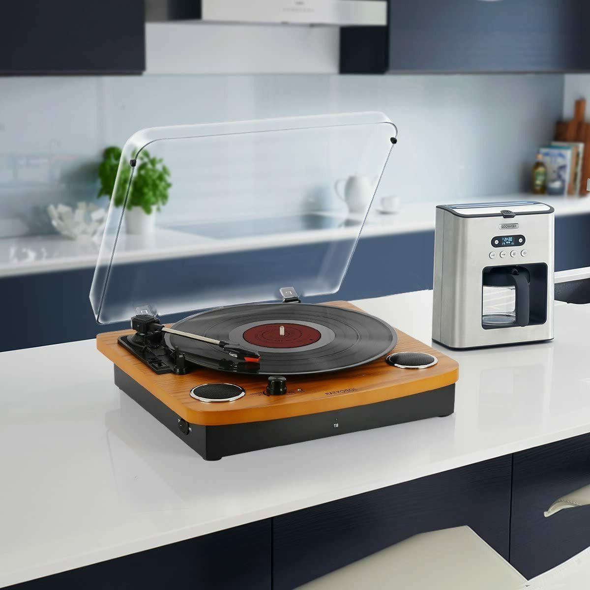 Bluetooth Turntable, JOPOSTAR Record Stereo