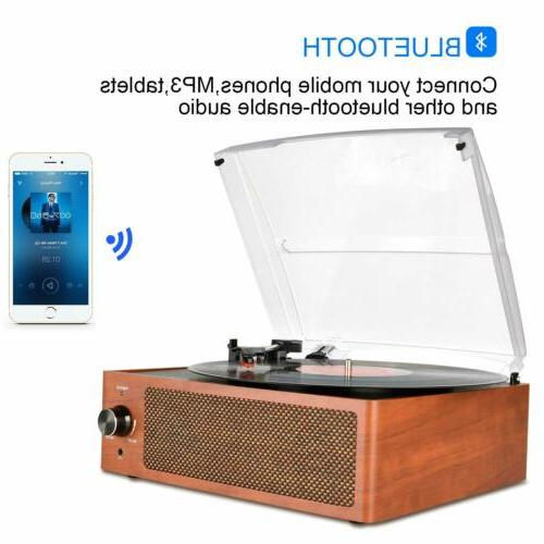 bluetooth vintage vinyl record player 3 speed