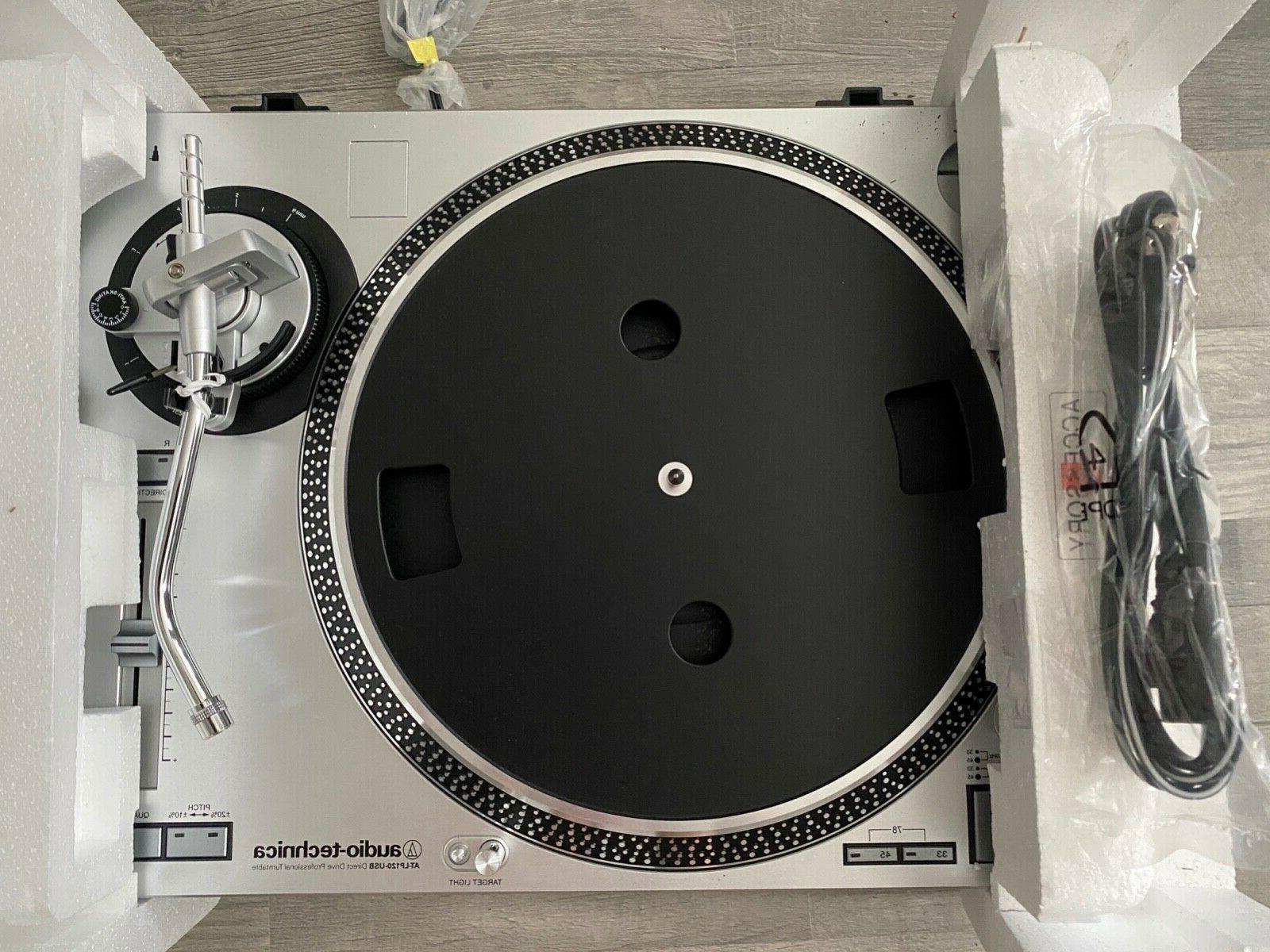 Brand New AT-LP120-USB Direct Drive Professional Turntable Silver