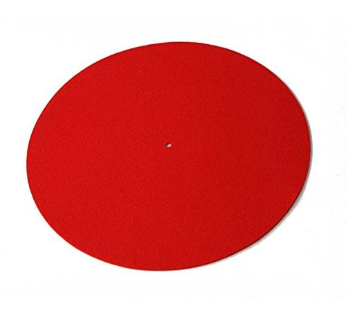 colormat red wool turntable mat