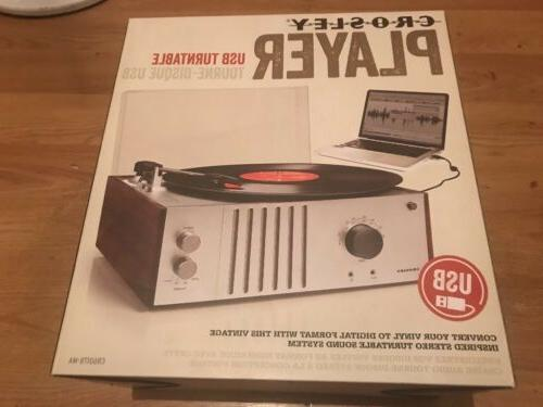 Crosley Player Radio Record Player - MAHOGANY NEW