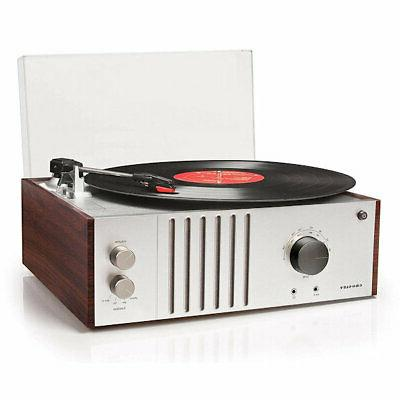 Crosley CR6017A-MA Player with AM/FM Aux-In, Mahogany