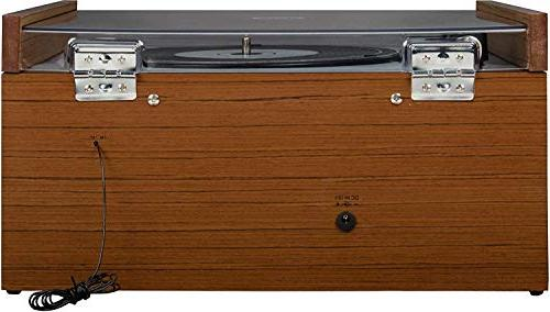 Crosley Belt-Drive Turntable with AM/FM Aux-in,
