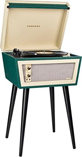 Crosley Sterling Portable Turntable with Aux-in, & Cream