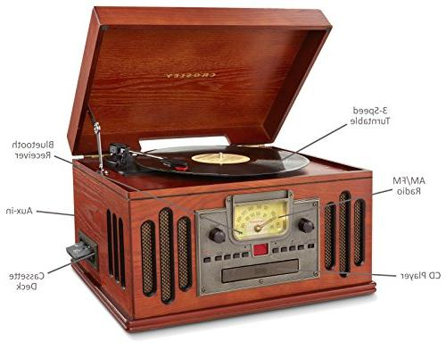 Crosley Musician 3-Speed Turntable with Player, and Paprika