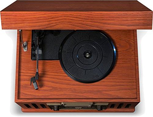 Crosley Musician 3-Speed Turntable with Player, Aux-in and Paprika