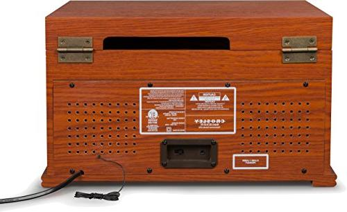 Crosley CR704D-PA Musician Turntable with Player, Paprika