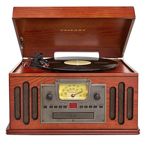 Crosley CR704D-PA Musician Turntable with Player, Aux-in and Bluetooth, Paprika