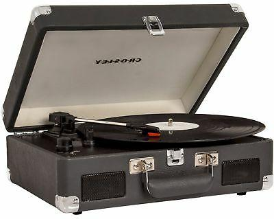Charcoal The Crosley CRUISER II Portable Battery Powered Turntable