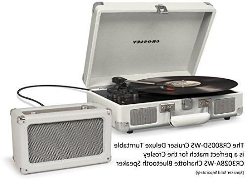 Crosley 3-Speed Bluetooth Suitcase Turntable, White
