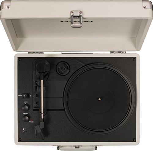 Crosley Cruiser 3-Speed Turntable, White Sand