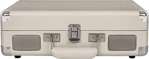 Crosley Cruiser Vintage 3-Speed Suitcase Turntable, White