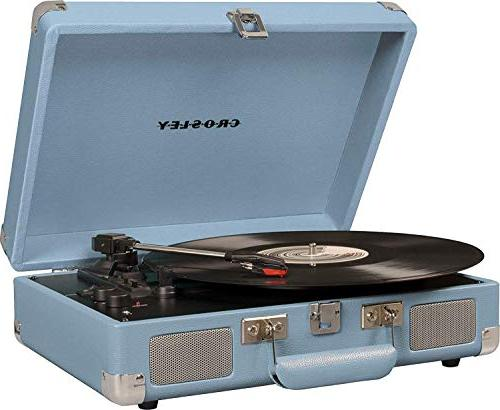 Crosley Deluxe 3-Speed Bluetooth Suitcase Turntable, Tourmaline