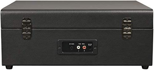 Crosley CR8017A-BK Portable with Bluetooth Receiver Built-in Speakers, Black