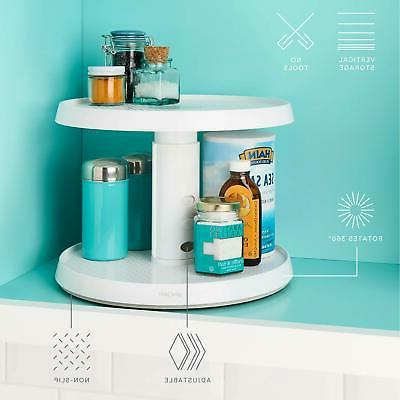YouCopia Crazy Susan Cabinet and Snack Organizer with Bins