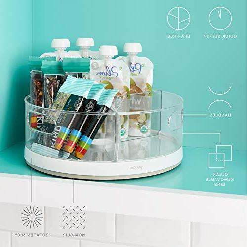 YouCopia Crazy Cabinet Turntable Organizer with Bins