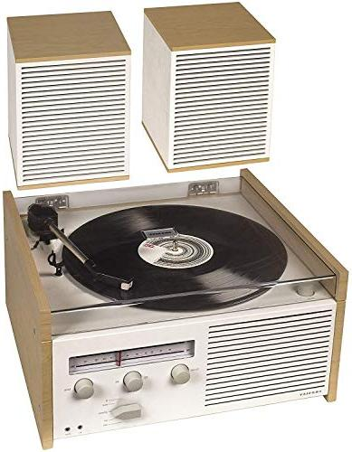 Crosley Switch Turntable with Radio, Aux-in, and Speakers