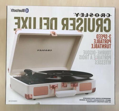 cruiser deluxe portable 3 speed bluetooth record