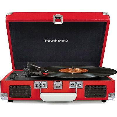 cruiser portable 3 speed turntable with bluetooth