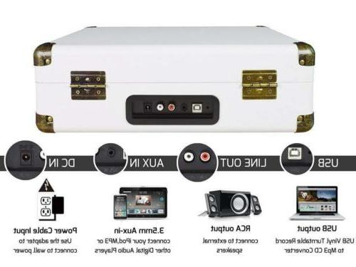 Digitnow!Suitcase Turntable 3 Stereo