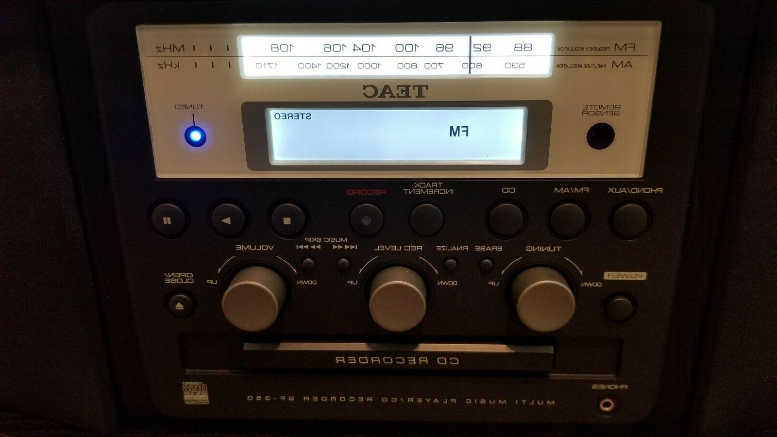 Teac Turntable AM/FM Tuner Player Stereo LN