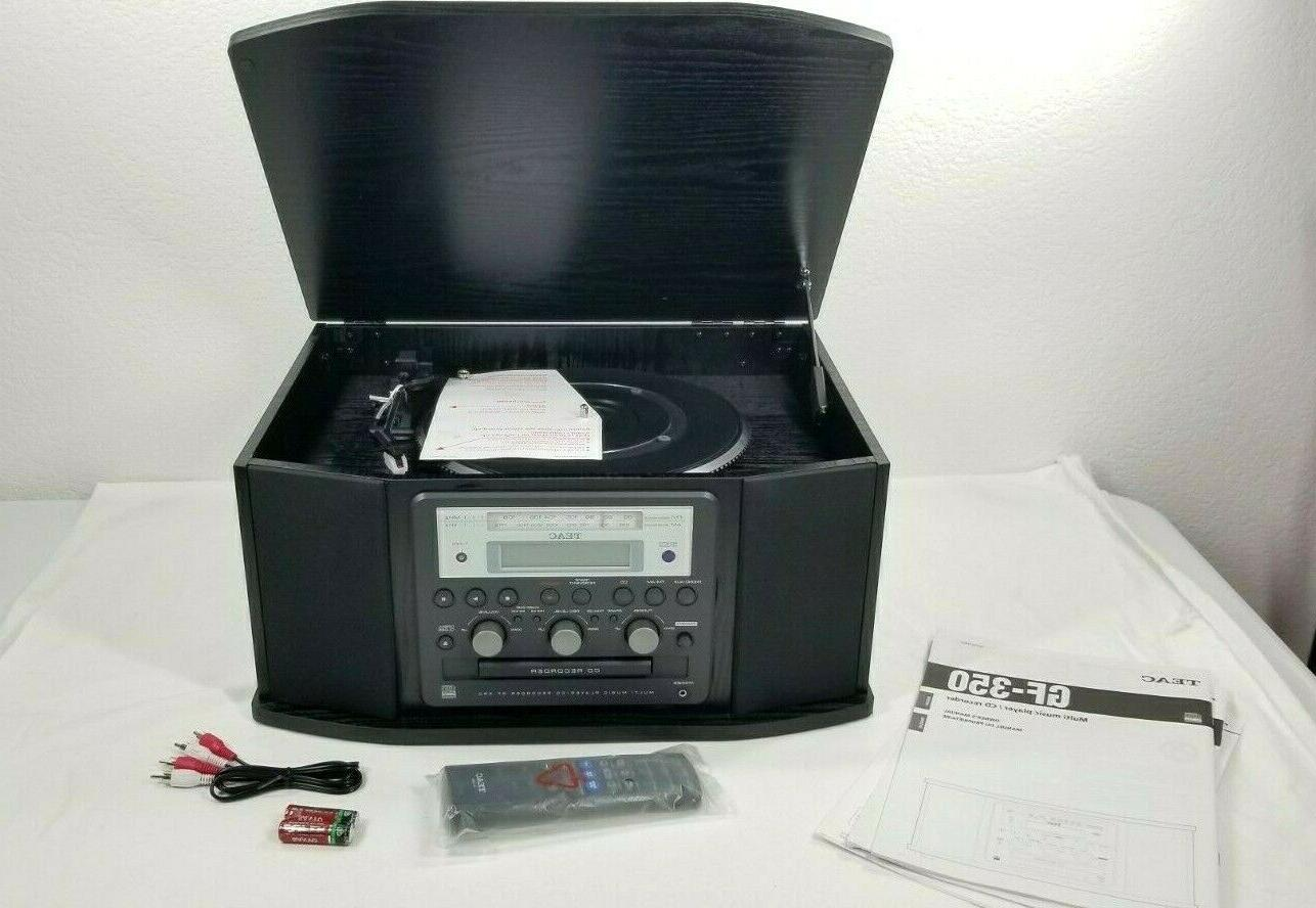 gf 350 record player turntable am fm