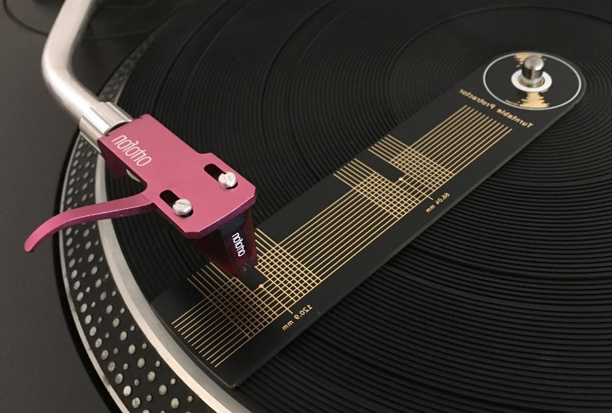 gold protractor alignment tool turntable phono record