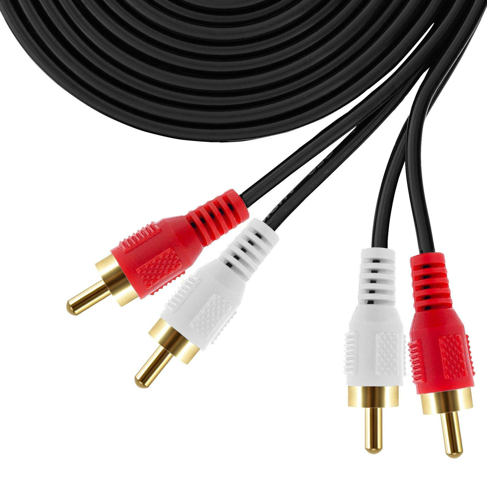 For Turntable HDTV Theater 2RCA 2RCA Stereo Audio Cord