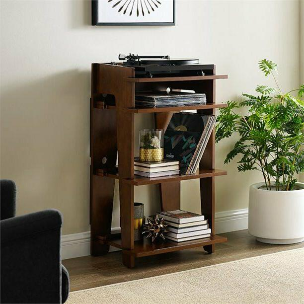 home wood record player stand turntable cabinet