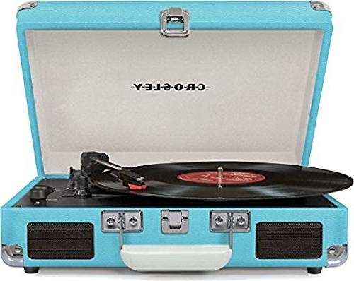 Bundle Items - Deluxe 3-Speed Turntable with and Crosley Record Crate Holds up 75 Albums,