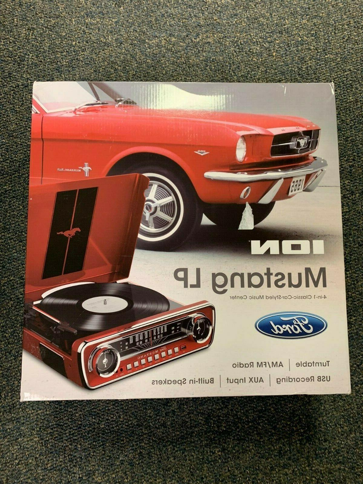 ion mustang lp 4 in 1 turntable
