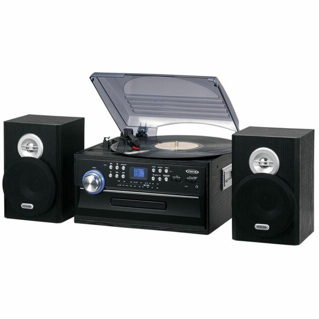 jensen 3 speed stereo turntable with cd