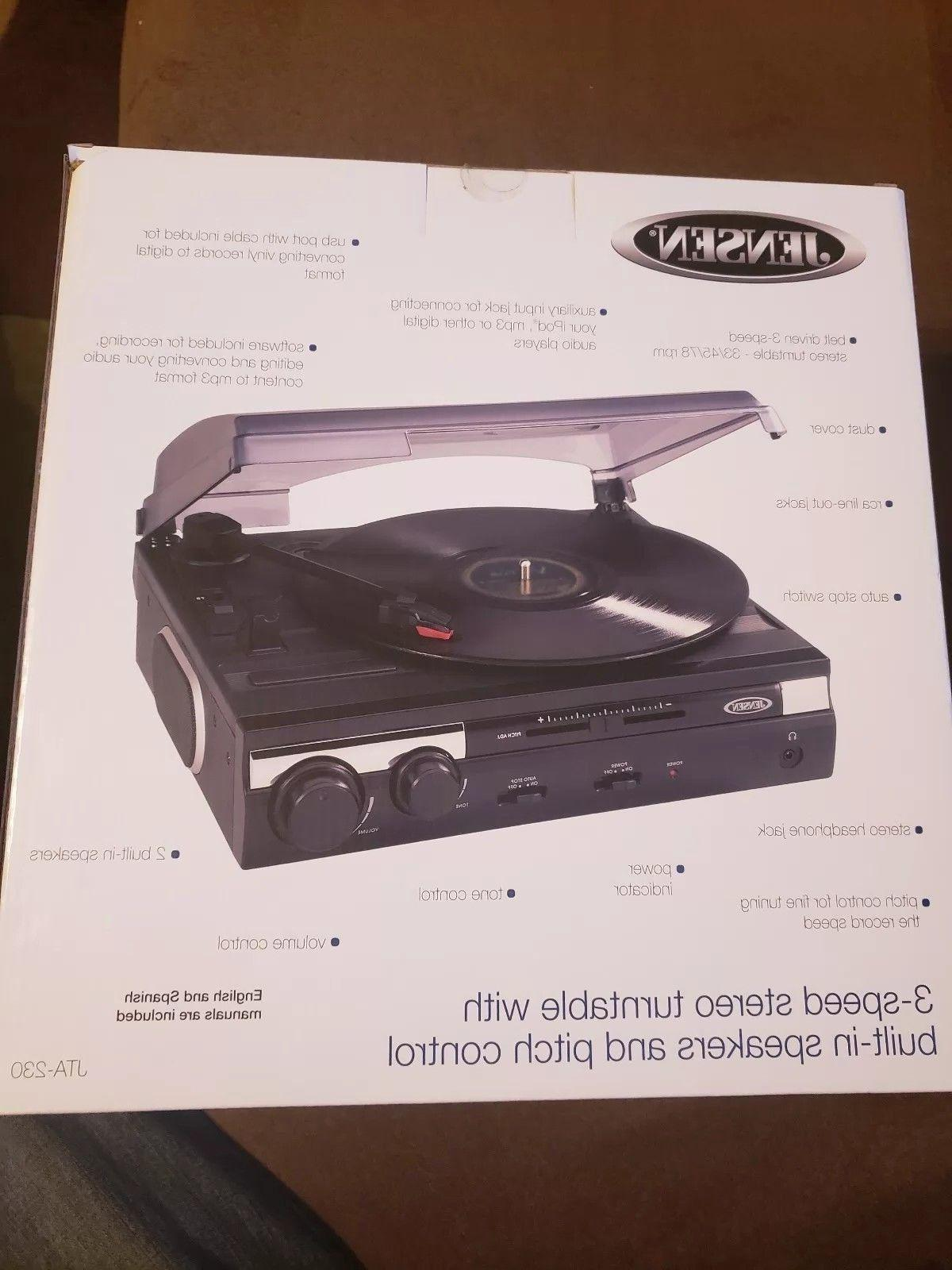 Jensen Stereo Turntable Record with