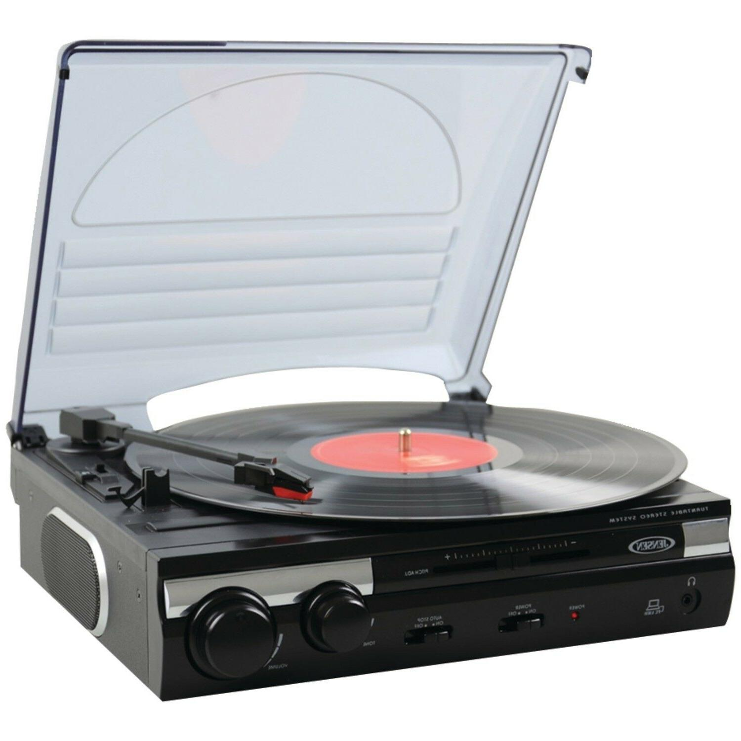 Jensen Stereo Record with Built-in Speakers