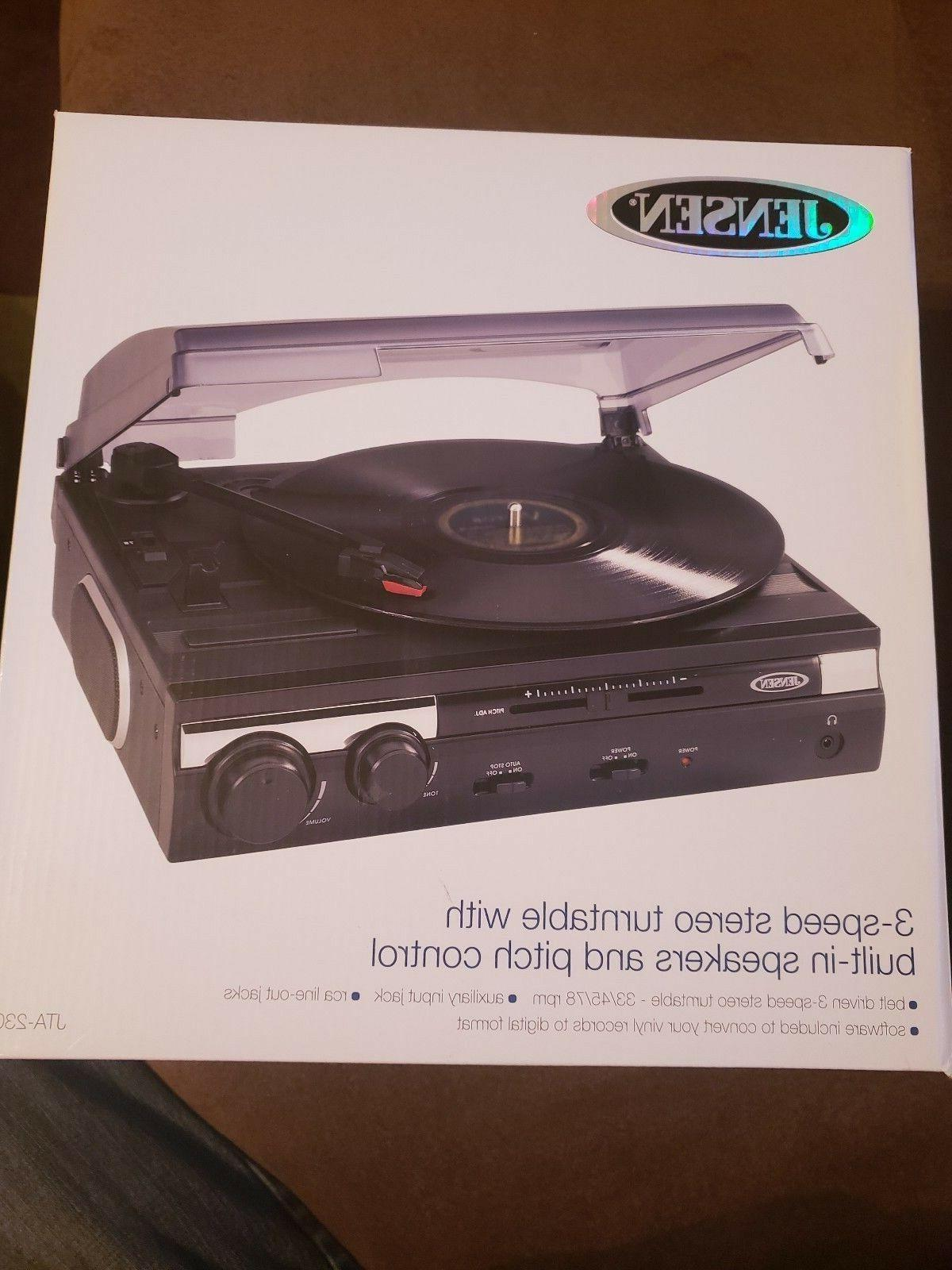 jta 230 3 speed stereo turntable record