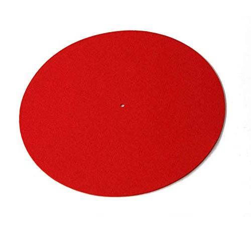 mat red wool turntable