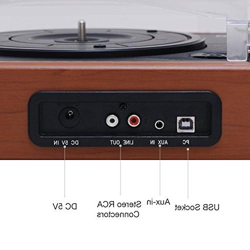 Musitrend 3 with Speakers, to MP3 Recording, RCA line Out, Wood