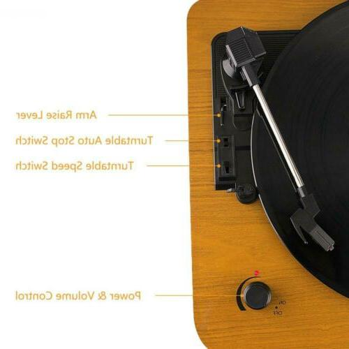 Musitrend LP 3-Speed Turntable with Built-in Stereo Vintage