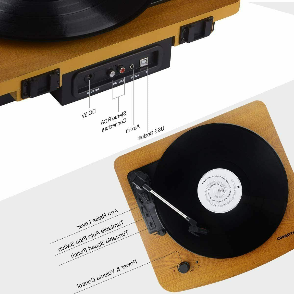 Record Musitrend 3-Speed Belt-Drive Turntable Stereo