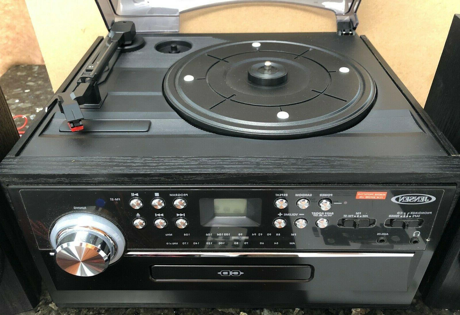 NEW STEREO TURNTABLE W/ / CASSETTE AM
