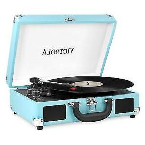 NEW Victrola Vintage 3-Speed Turntable Record Player Suitcas