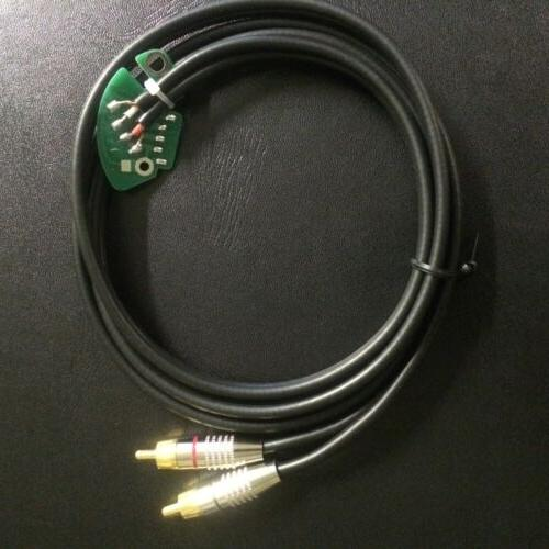 PAIR of turntable RCA cable pc board W/ gnd