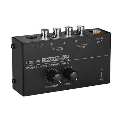 phono preamp preamplifier with level volume controls