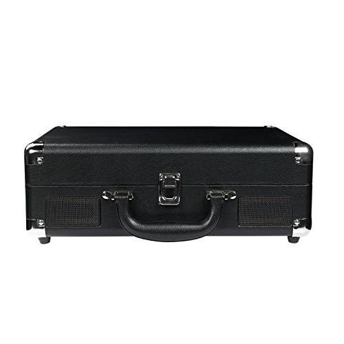 Turntable Built-in Stereo Speakers, 3-Speed,Vinyl-To-MP3 Transmit out & Receive in ,AUX Jack,Black